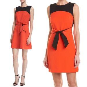 NWT Milly 'Jenny' Stretch-Crepe Combo Dress